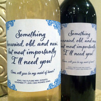 Something Borrowed, Old, & Blue But most Importantly I'll need you! Maid of Honor Proposal Idea - Ask Bridesmaid Custom - Ask Wedding Party