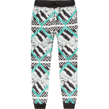 Elwood Geometric Stripe Boys Jogger Pants Black/White  In Sizes