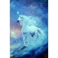 Unicorn Fantasy - New 24x36 Poster -Rare Astral Print