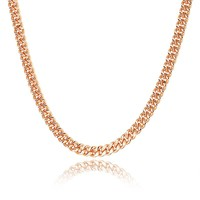 New Necklace Plated Rose Gold Cuba Chain Jewelry Men's Necklace