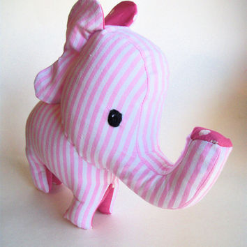 Elephant Stuffed Animal Pink- Lou Lou