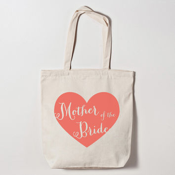 Mother of the Bride Heart Tote Bag