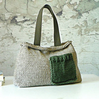 Knit women handbag, fall autumn Fashion, NzLbags - Pastel color Knit Bag, Women Handbag - Shoulder Bag SALE OFF 20%
