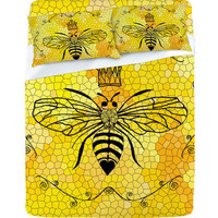 DENY Designs Home Accessories | Lisa Argyropoulos Queen Bee Sheet Set