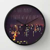PERKS OF BEING A WALLFLOWER Wall Clock by Sjaefashion | Society6
