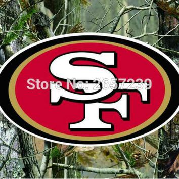 San Francisco 49ers Camo real tree logo Flag 3x5FT NFL banner150X90CM 100D  Polyester brass grommets custom flag, Free Shipping