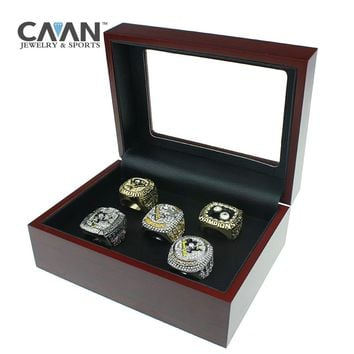 Drop shipping 5 pcs/set 1991 1992 2009 2016 2017 PITTSBURGH PENGUINS championship ring Sidney Crosby For Fans Gift