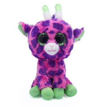 Ty Collection Beanie Boos Kids Plush Toys Big Eyes Slick Brown Fox Lovely Children Gifts Kawaii Stuffed Animals Dolls Cute Toys