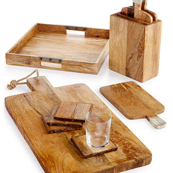Thirstystone Rustic Wood Serveware Collection | macys.com