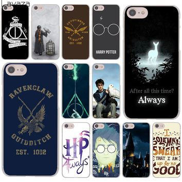 Lavaza Harry Potter always Slytherin School Hard Cover Case for iPhone X XS Max XR 6 6S 7 8 Plus 5 5S SE 5C 4S 10 Phone Cases
