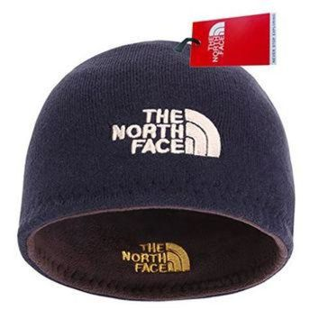 ONETOW The North Face Winter Thicken Polar Fleece Knit Ski Reversible Beanie Hat (Blue, One S