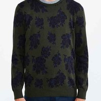Your Neighbors Elgevien Floral Intarsia Sweater