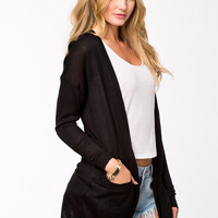 CHENG LONG BLACK CARDIGAN