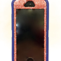 iPhone 5/5s OtterBox Defender Series Case  Glitter Cute Sparkly Bling Defender Series Custom Case Blue / Kunzite