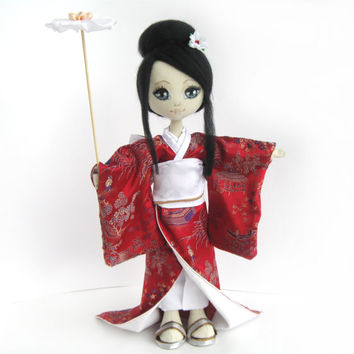 "Art doll ""A Japanese girl"". Pattern only"
