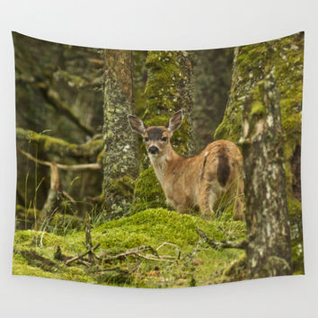 Deer Tapestry, Photo Tapestry, Tapestry Wall Hanging, Nature Tapestry, Modern Tapestry, Animal Tapestry, Tree Tapestry, Forest Tapestry