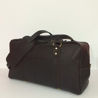 Leather Travel Duffle / Weekender Duffle