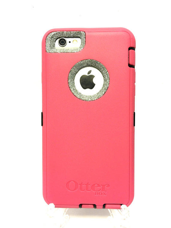quality design 18d7b ab3e2 iPhone 6 (4.7 inch) OtterBox Defender Series Case Glitter Cute Sparkly  Bling Defender Series Custom Case pink / silver