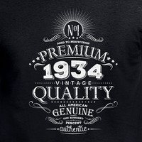 Born 1935 80th Birthday Gift Personalized Vintage T shirt Made With Any Year Cool For Him Aged To Perfection Whiskey Label Custom Tee DN-B34