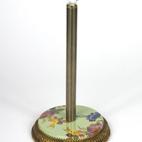 Green Flower Market Paper Towel Holder - MacKenzie-Childs