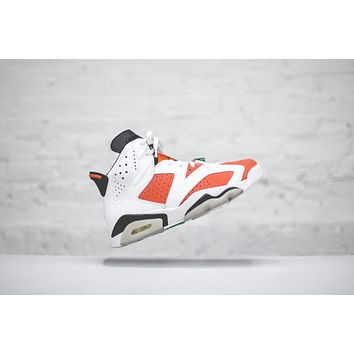 Nike Air Jordan 6 White / Orange / Black | Best Deal Online