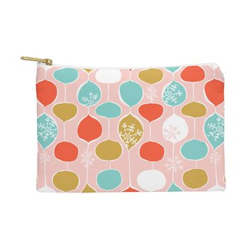 Heather Dutton Snowflake Holiday Bobble Chill Pink Pouch