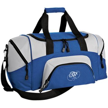 Cloud White OBX Lyfe Port & Co. Small Colorblock Sport Duffel Bag in 8 Colors