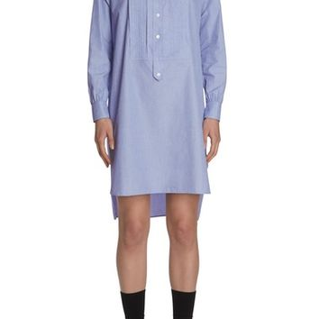 Burberry Pintuck Cotton Shirtdress | Nordstrom