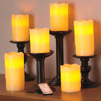 Set of 6 Remote Control LED Candles Home Decor