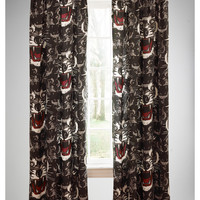 Raja Wolf Glow in the Dark Foamback Single Panel Curtain