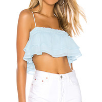 Tularosa Stella Top in Baby Blue | REVOLVE