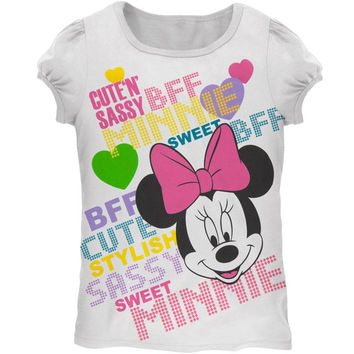 Minnie Mouse - Cute N Sassy Girls Juvy T-Shirt
