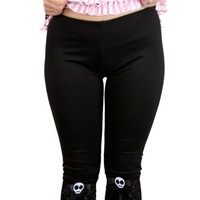 "Women's ""Skull Leggings"" by Jessica Louise (Black)"
