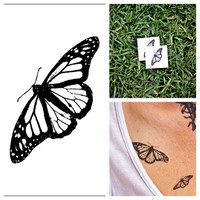 Butterfly  temporary tattoo Set of 2 by Tattify on Etsy