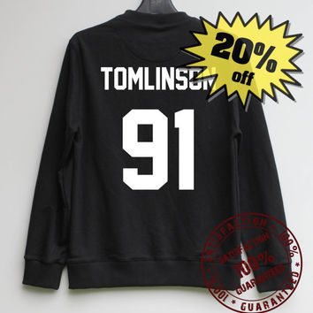 Tomlinson 91 Shirt One Direction Sweatshirt Sweater Shirt – Size XS S M L XL