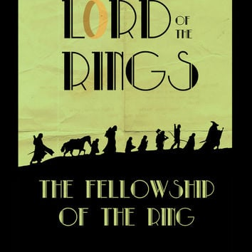 LOTR The Fellowship of the Ring Minimalist Poster Art Print by Sean Breeding Arthouse