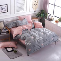 100% Bamboo Fiber Jacquard Duvet Cover Set 3/4PCS Sheets+quilt+Pillowcase Full King Queen Twin kids Size Bedding Set