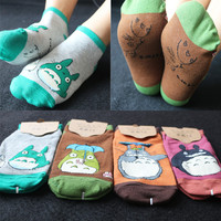 Fashion Women Socks Girls Cute Cartoon Totoro Knitting Socks Good Quality Sock Slippers