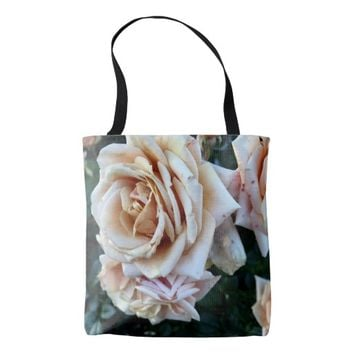 Peach. Roses at Sunset Tote Bag