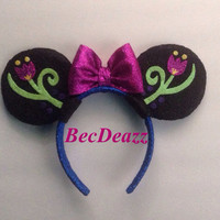 Disney Frozen Anna Minnie Mouse ears headband