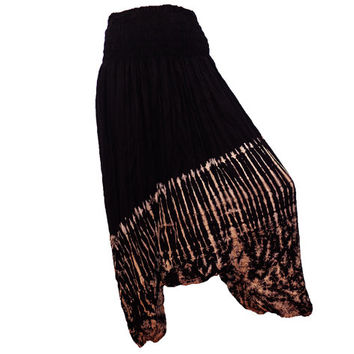 Women's Black Tie Dye Thai Harem Pants