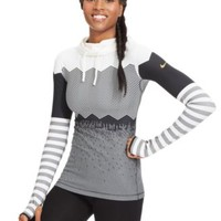 Nike Pro Hyperwarm Printed Active Hoodie Top | macys.com