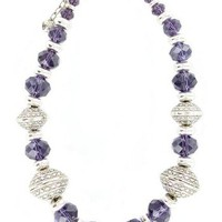Western Charm ® Chunky Amethyst And Silver Necklace