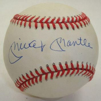 DCCKJNG Mickey Mantle Signed Autographed Official American League (OAL) Baseball - PSA/DNA COA