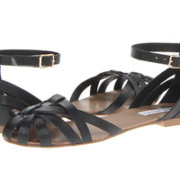 Steve Madden P-Trivol Black Leather - 6pm.com