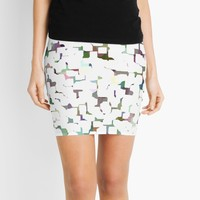 'Happy Colorful Geometric Abstraction' Mini Skirt by SpieklyArt