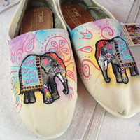 Indian Elephant TOMS by LamaLand on Etsy