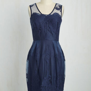 Outstanding on Ceremony Dress in Navy