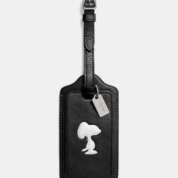 COACH X PEANUTS LUGGAGE TAG IN LEATHER | Dillards