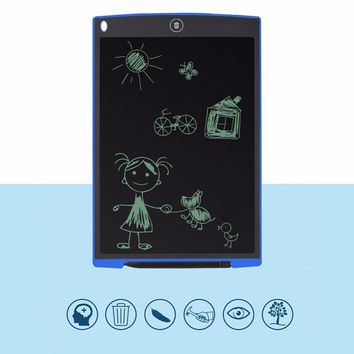 Portable 12 inch LCD Magic Scratch Toy Drawing Touchpad Electronic Whiteboard Memo Board Tablet With Stylus For Children writing